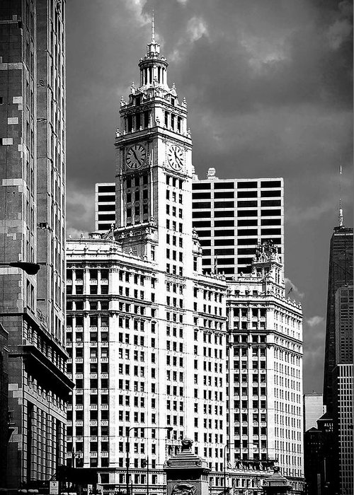 Skyscrapers Greeting Card featuring the photograph Wrigley Building Chicago Illinois by Christine Till