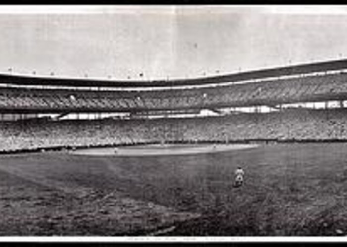 Chicago Greeting Card featuring the photograph Wrigley Field 1929 Panorama by Benjamin Yeager