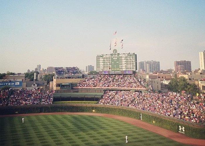Summer Greeting Card featuring the photograph Wrigley by Mike Maher