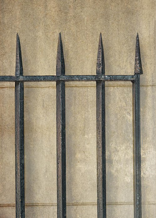 Gate Greeting Card featuring the photograph Wrought Iron Gate by Brenda Bryant