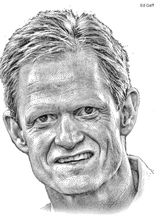 Wsj Portrait Greeting Card featuring the drawing Wsj Portrait by Zian Guan