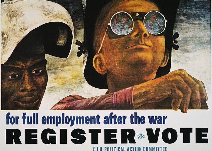 1944 Greeting Card featuring the photograph Wwii: Employment Poster by Granger