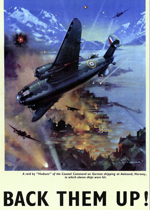 1942 Greeting Card featuring the drawing Wwii Royal Air Force, C1942 by Granger