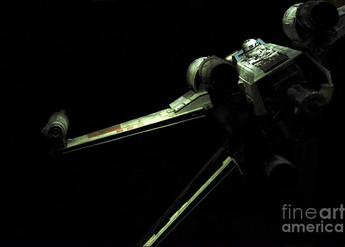 X-wing Greeting Card featuring the photograph X-wing Fighter by Micah May