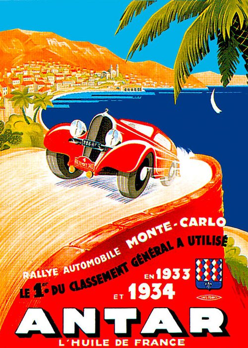 Cottin & Desgouttes Automobile Greeting Card featuring the photograph Monte Carlo by Unknown
