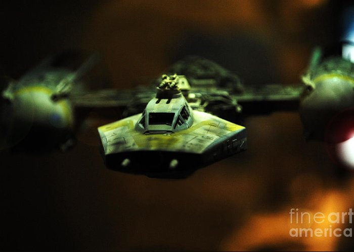 Fighter Greeting Card featuring the photograph Y Wing Of Star Wars by Micah May