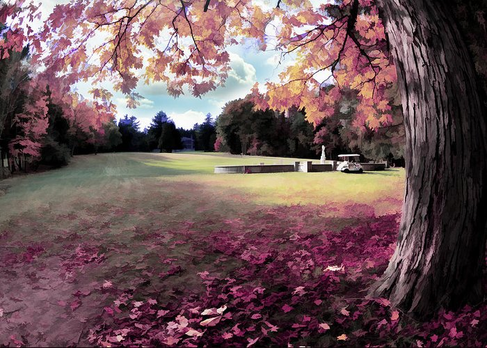 Yaddo Greeting Card featuring the photograph Yaddo Tree by Tina Baxter