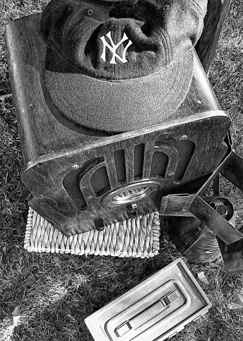 New York Greeting Card featuring the photograph Yankee Cap by Ron Regalado