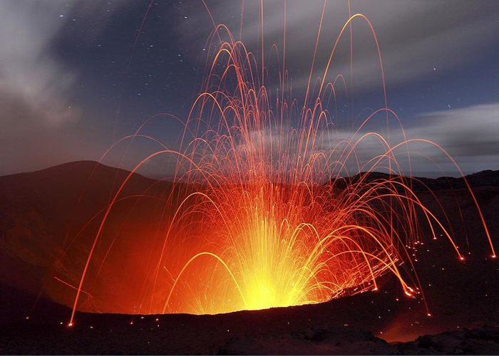 Environment Greeting Card featuring the photograph Yasur Volcano, Vanuatu by Science Photo Library