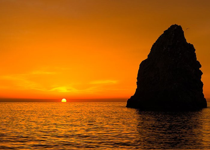 Seascape Greeting Card featuring the photograph Yellow Dawn by Salvatore Mannino