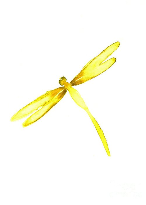 Yellow Dragonfly Greeting Cards