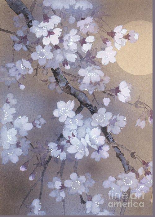 Haruyo Morita Greeting Card featuring the digital art Yoi Crop by Haruyo Morita