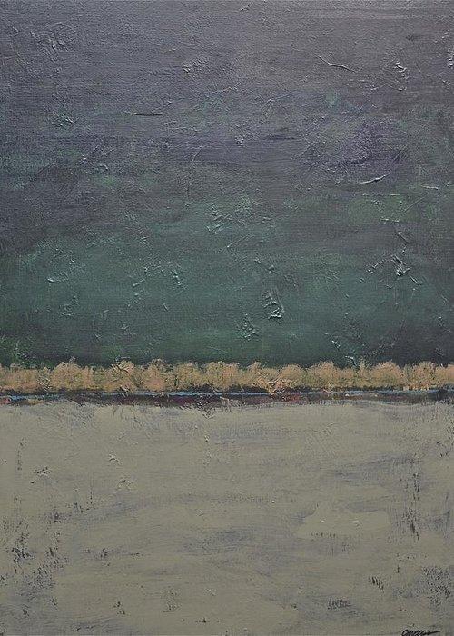 Rectangular Greeting Card featuring the painting Yonder Creek by Jim Ellis