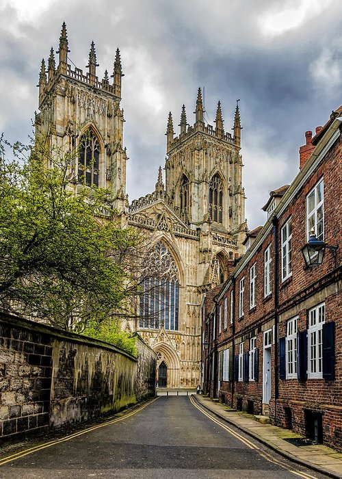 York Greeting Card featuring the photograph York Minster England by Trevor Kersley