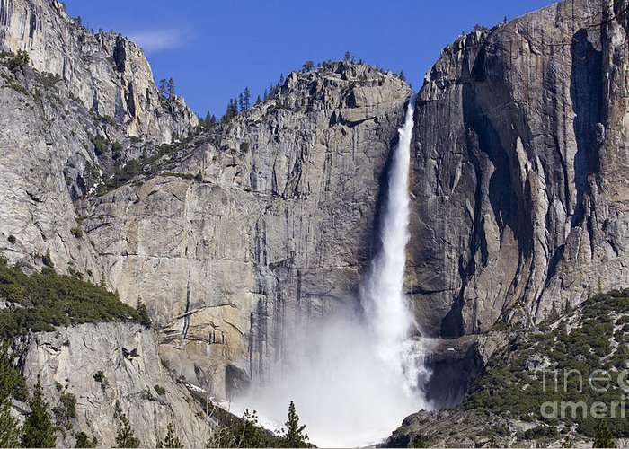 America Greeting Card featuring the photograph Yosemite Falls by B Christopher