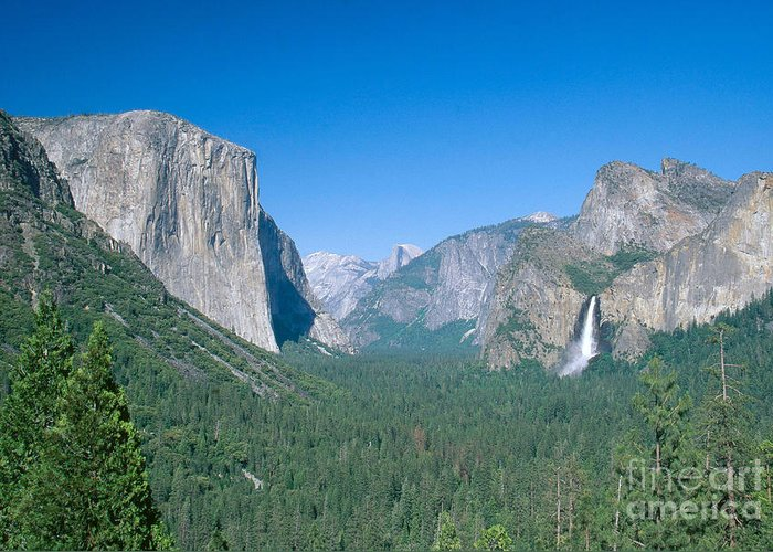 El Capitan Greeting Card featuring the photograph Yosemite Valley by David Davis