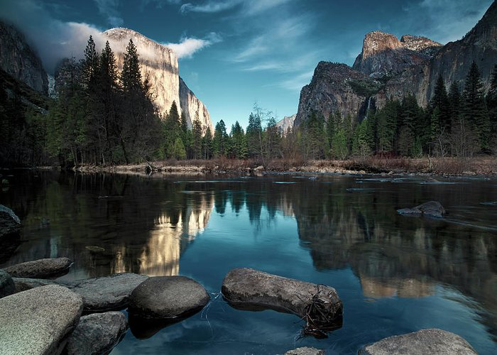Scenics Greeting Card featuring the photograph Yosemite Valley by Joe Ganster