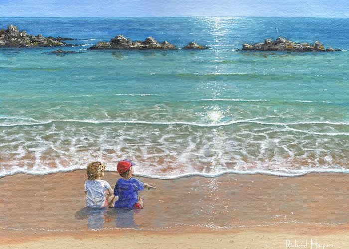 Landscape Greeting Card featuring the painting You And Me by Richard Harpum