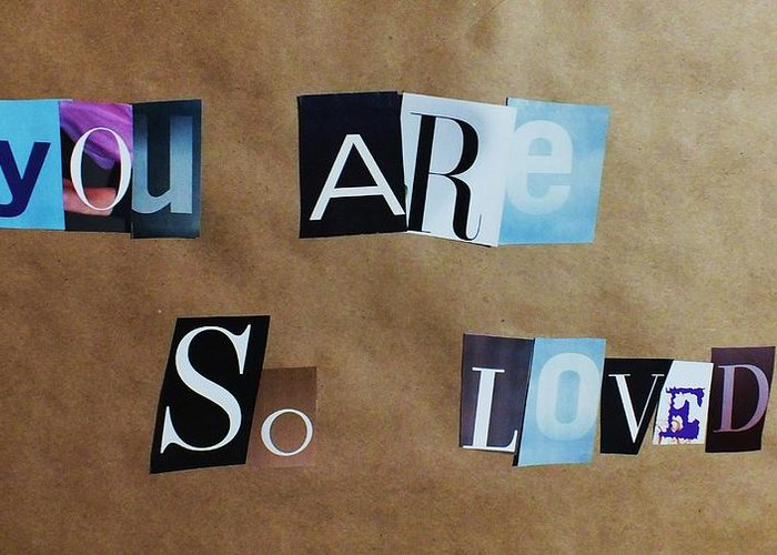 Magazine Letters Greeting Card featuring the photograph You Are So Loved by Anna Villarreal Garbis