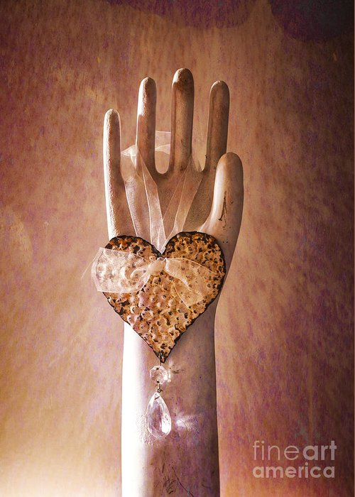 Hand Greeting Card featuring the photograph You Can Have My Heart by Terry Rowe