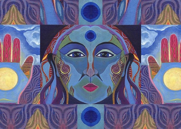 Woman Greeting Card featuring the painting You Have The Power by Helena Tiainen