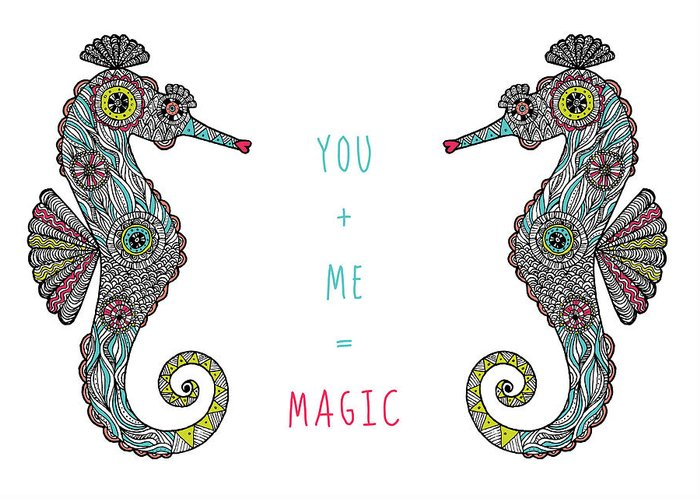 Susan Claire Greeting Card featuring the photograph You Plus Me Equals Magic by Susan Claire