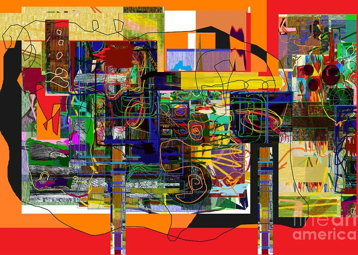 Torah Greeting Card featuring the digital art You Saw No Picture 5 by David Baruch Wolk