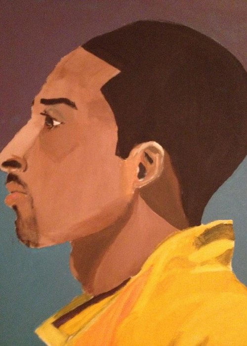 Sports Greeting Card featuring the painting Young Mamba by Brandon King