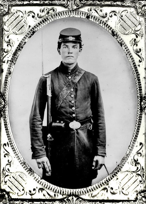 Young Greeting Card featuring the photograph Young Union Soldier by American School