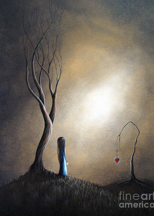 Surreal Greeting Card featuring the painting Your Memory Lives On In Me By Shawna Erback by Shawna Erback