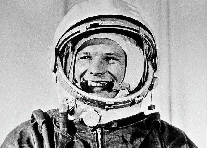 Yuri Gagarin Greeting Card featuring the photograph Yuri Gagarin by Sputnik/science Photo Library