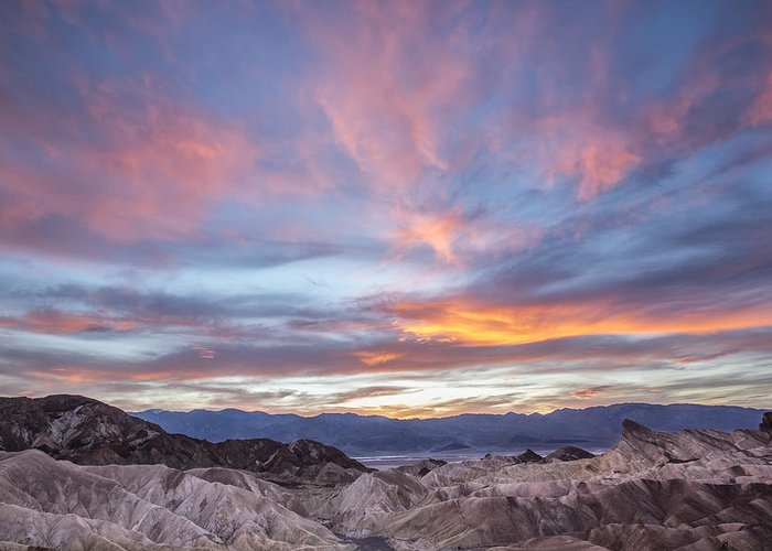 Horzontal Greeting Card featuring the photograph Zabriski Colors by Jon Glaser