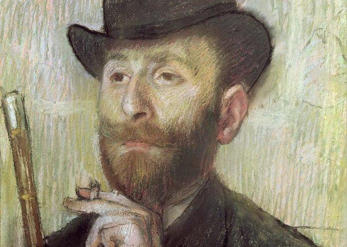 Zacharie Zacharian Greeting Card featuring the painting Zachary Zakarian by Edgar Degas
