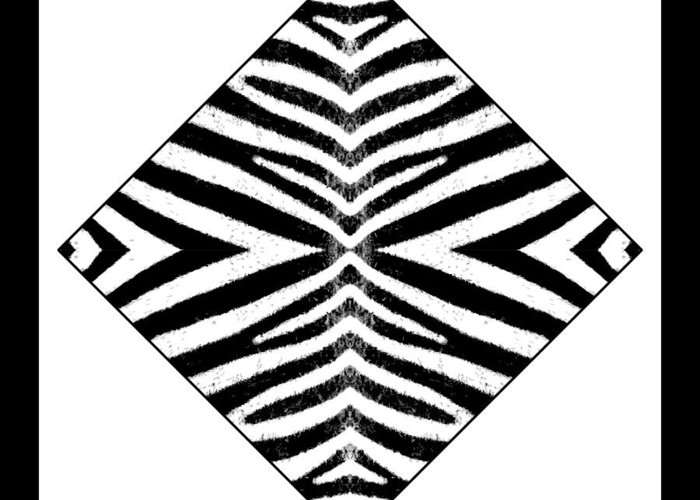 Zebra Greeting Card featuring the digital art Zebra Skin by Roberto Alamino