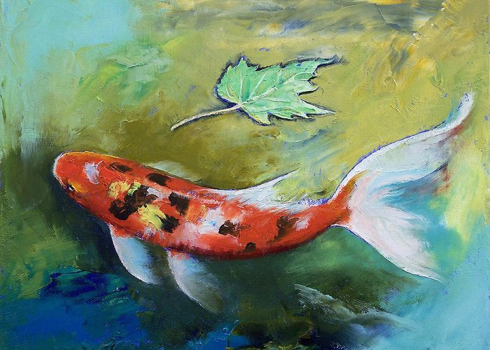 Butterfly Koi Greeting Cards