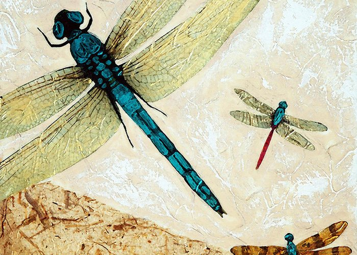 Dragonflies Mixed Media Greeting Cards