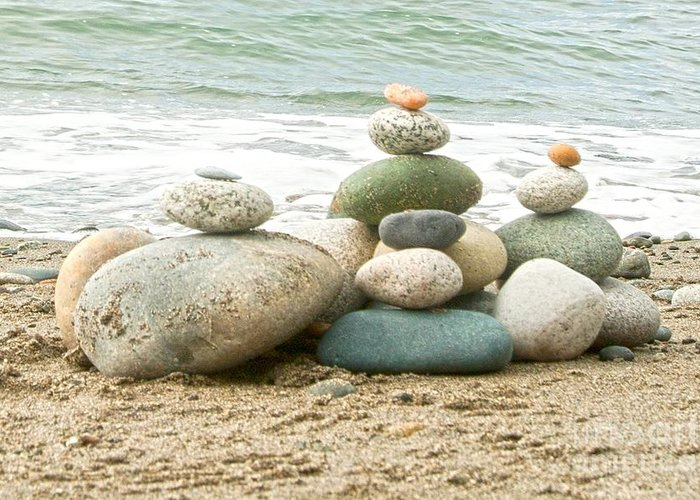Rocks Greeting Card featuring the photograph Zen Meditation Balance by Artist and Photographer Laura Wrede