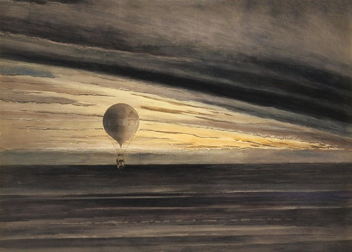 Balloon Greeting Card featuring the photograph Zenith At Sunrise by Bill Cannon