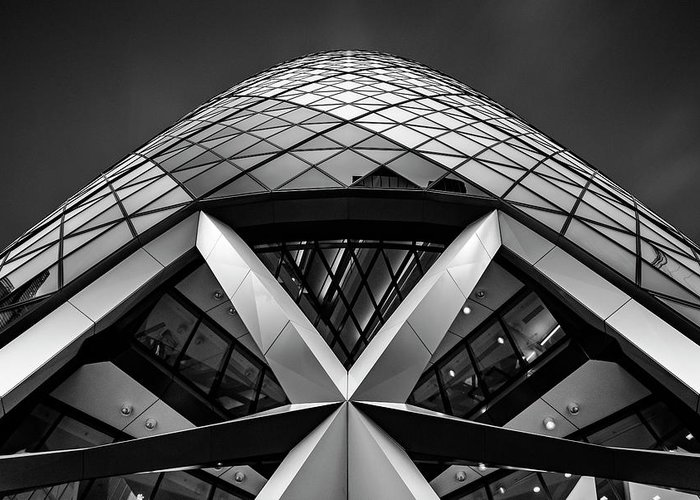 London Greeting Card featuring the photograph Zigzag (the Gherkin) by Ahmed Thabet