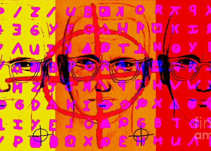 Zodiac Greeting Card featuring the photograph Zodiac Killer Three With Code And Sign 20130213 by Wingsdomain Art and Photography