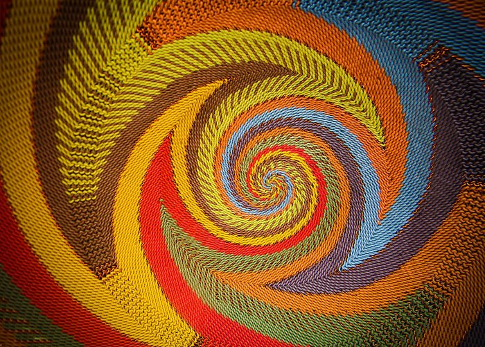 Basket Greeting Card featuring the photograph Zulu Basket Detail by Christy Usilton