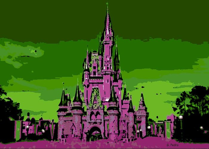 Disney World Greeting Card featuring the photograph Castle Of Dreams by George Pedro