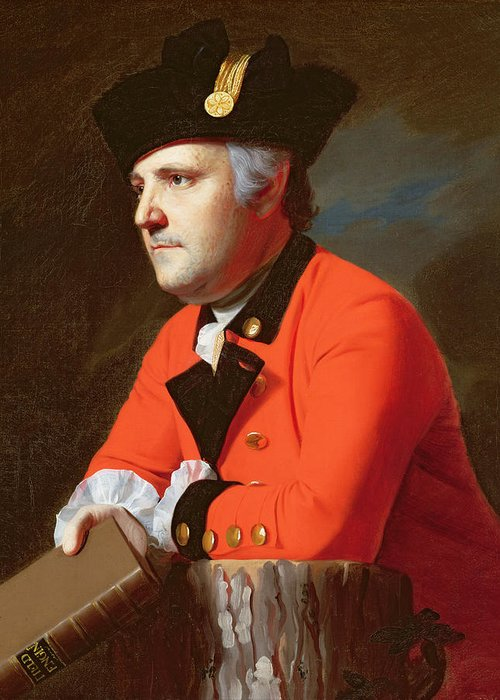 Colonel Greeting Card featuring the painting Colonel John Montresor by John Singleton Copley