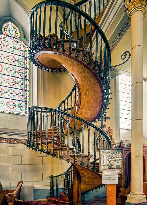 Loretto Chapel Staircase Greeting Card For Sale By Anna Rumiantseva