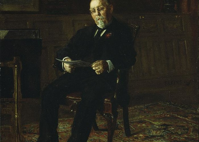 Robert Greeting Card featuring the painting Robert M. Lindsay by Thomas Cowperthwait Eakins