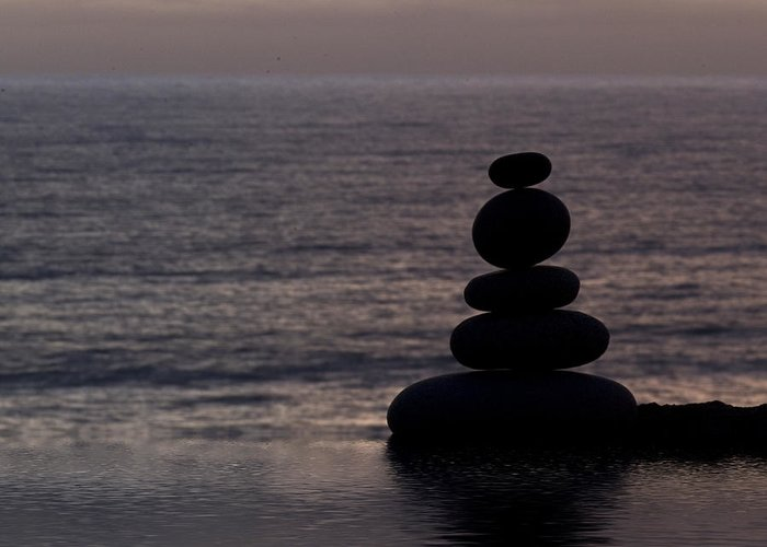Stone Greeting Card featuring the photograph Stone Balance 5 by Andrea Haase