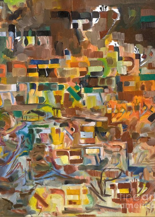Torah Greeting Card featuring the painting The Essense Of Each Matter by David Baruch Wolk