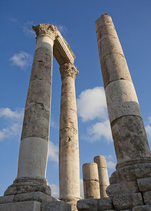 Ruins Greeting Card featuring the photograph The Ruins Of The Ancient Citadel, Or by Taylor S. Kennedy