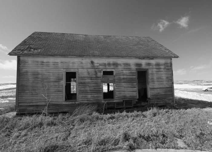 Black And White Greeting Card featuring the photograph Visions Of Learning Past by Rick Rauzi