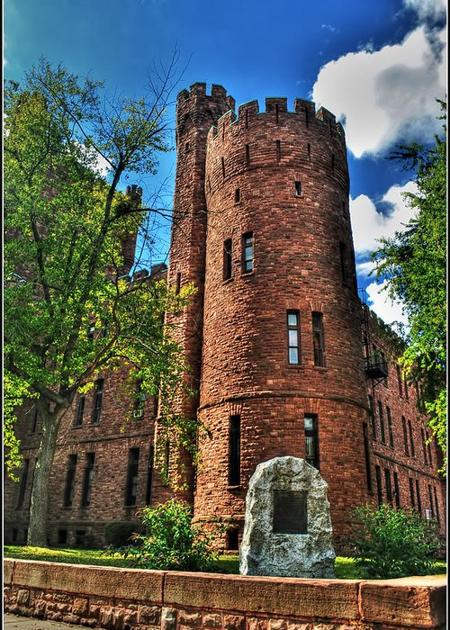 Greeting Card featuring the photograph 004 The 74th Regimental Armory In Buffalo New York by Michael Frank Jr